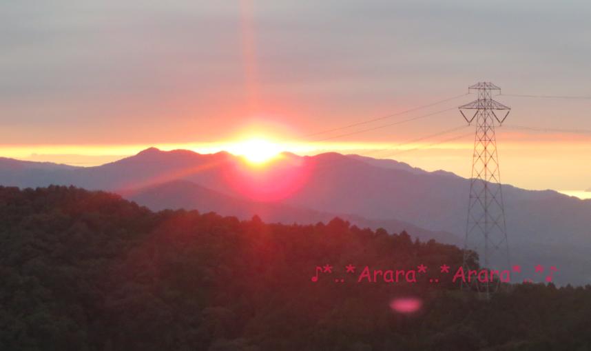 みさと天文台の夕陽