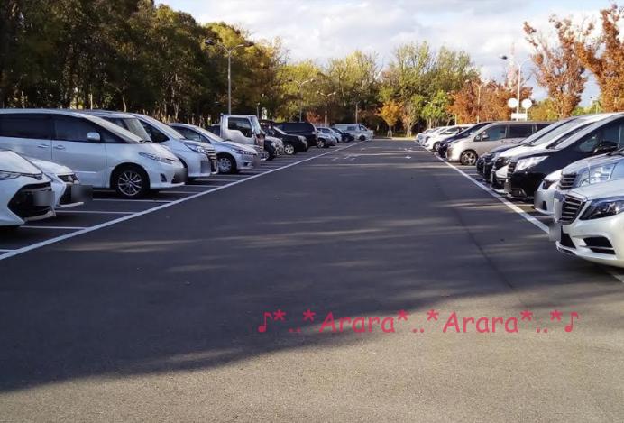 4時くらいの第一駐車場