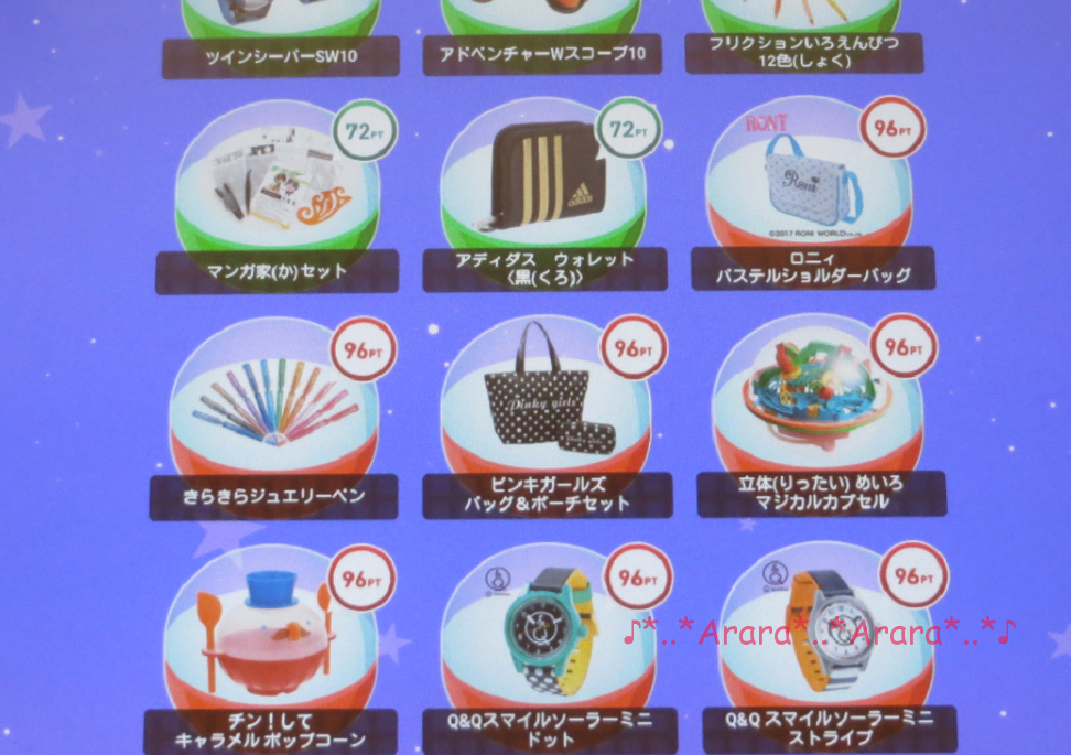 チャレンジタッチ努力賞ポイント商品の画像