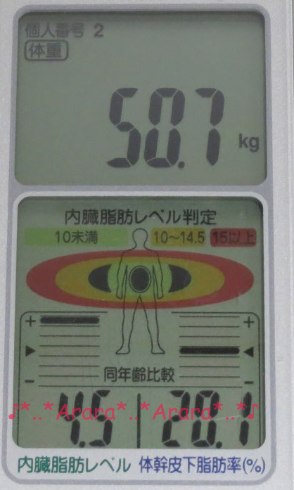 実験前の体重画像