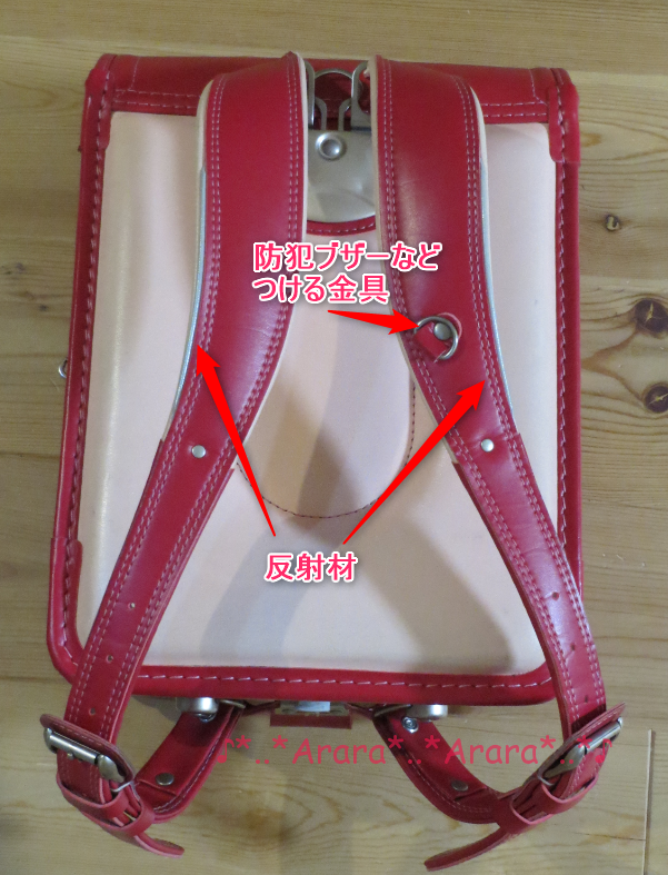 中村鞄のランドセル肩ベルト
