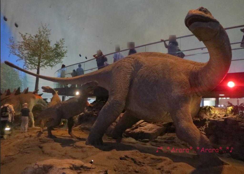 福井県立恐竜博物館の恐竜ジオラマ画像