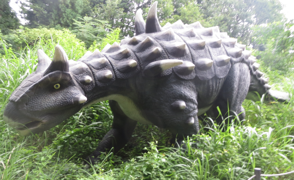 かつやまディノパーク「アンキロサウルス」