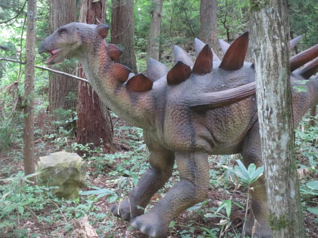 勝山ディノパーク「ケントロサウルス」画像