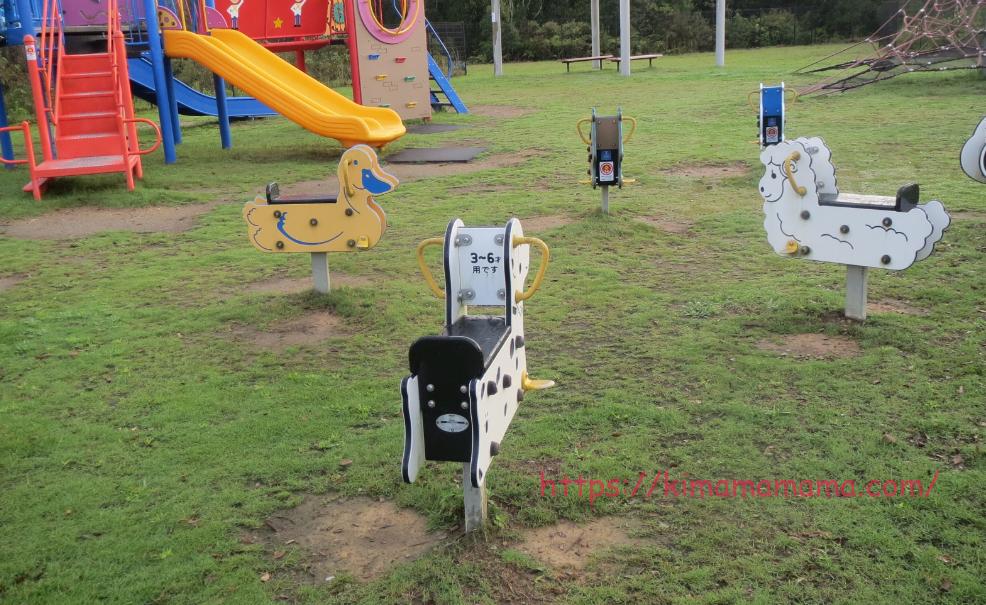 ヴィレッジ公園の動物遊具の画像