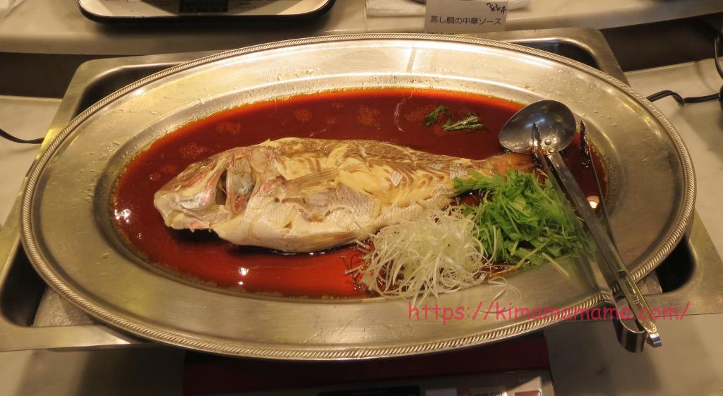 とれとれ亭「蒸し鯛の中華ソース」画像