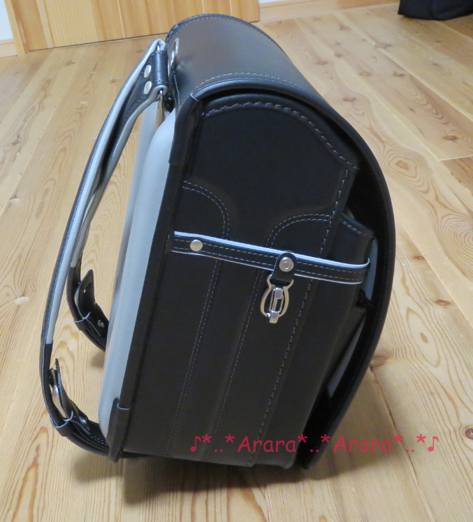 中村鞄ランドセル 黒色 側面 画像