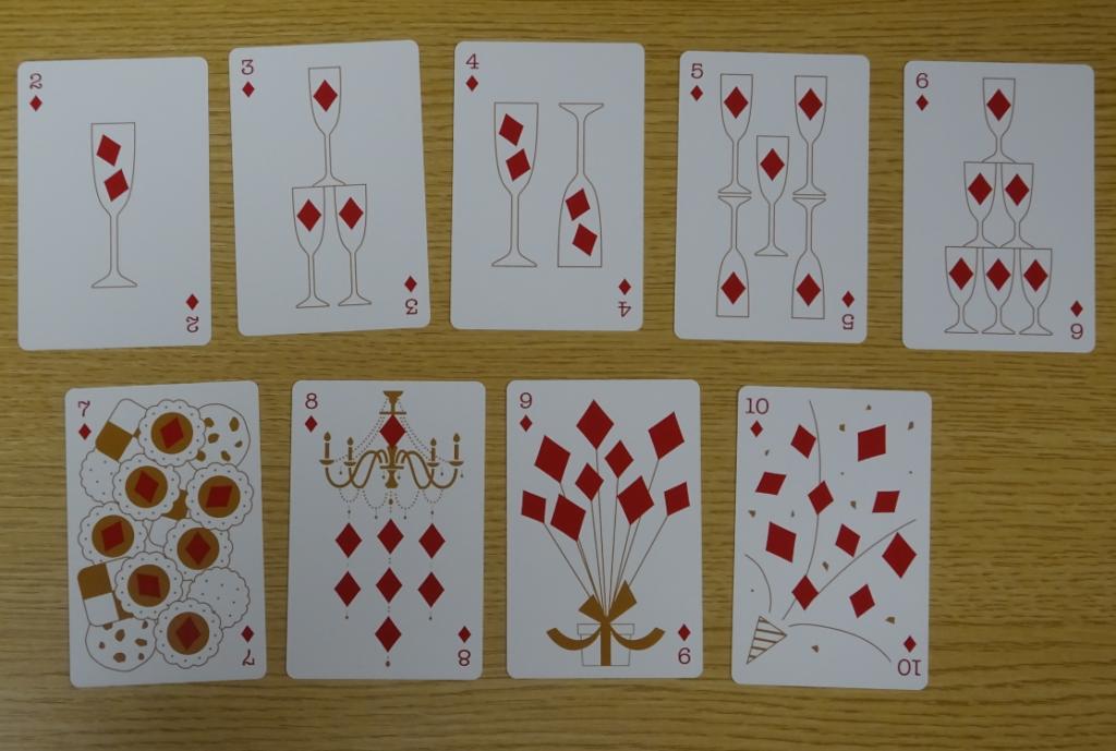 コナンカフェ2019限定トランプの2から10までのカードの画像